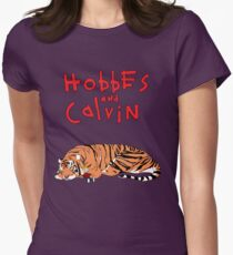 Hobbes and Calvin logo Women's Fitted T-Shirt