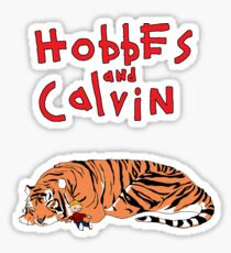 Hobbes and Calvin logo Sticker