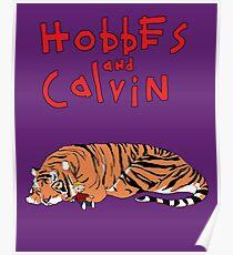 Hobbes and Calvin logo Poster