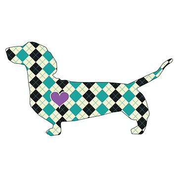 Dachshund Plaid by tiffanyo