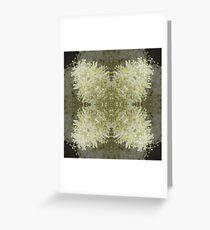 White Flower Design Greeting Card