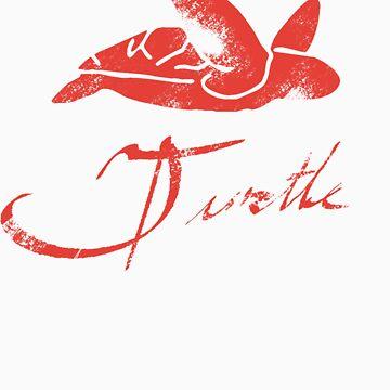 Red Turtle Tee by Paintlife