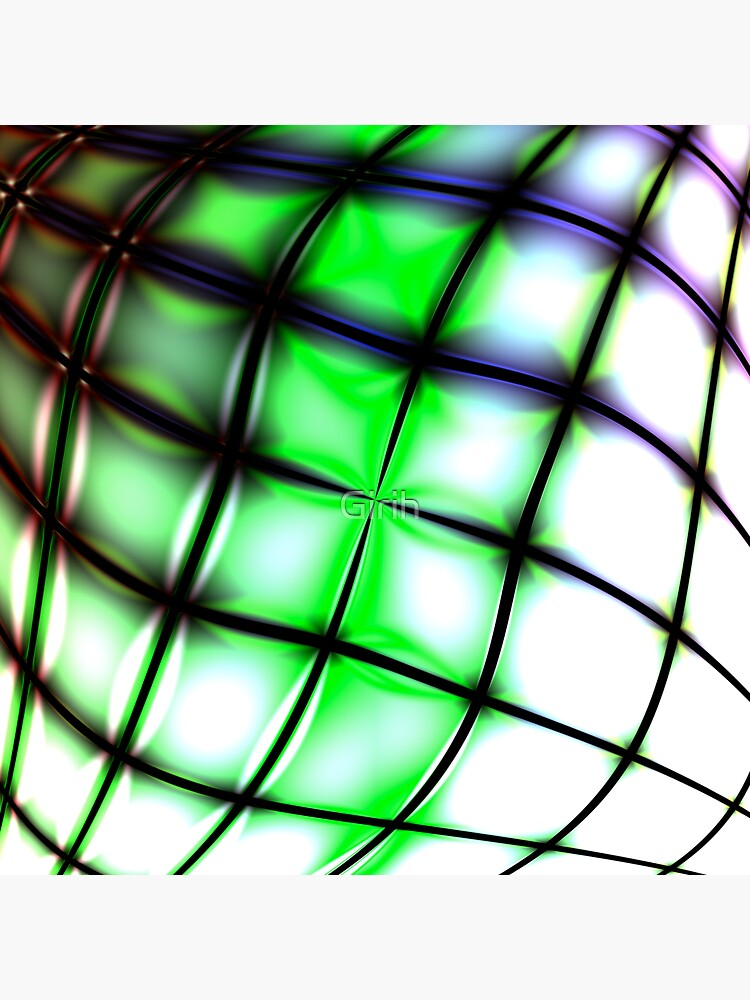 Green bended grid by Girih