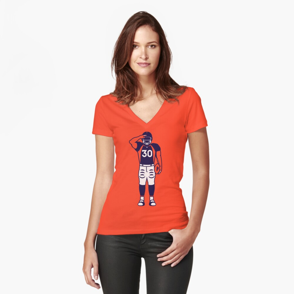 Mile High Salute Women's Fitted V-Neck T-Shirt Front