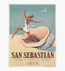 Vintage poster - San Sebastian Photographic Print