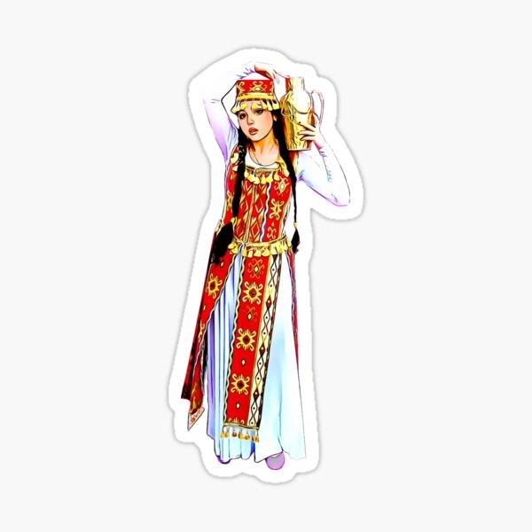 Armenian Lady Ararat Sticker