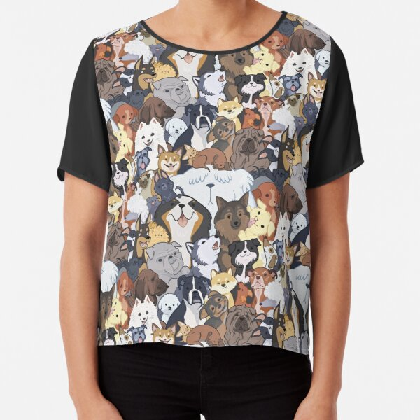 Pupper Party Chiffon Top