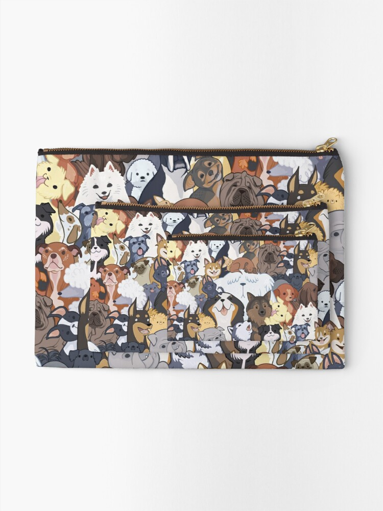 Alternate view of Pupper Party Zipper Pouch