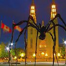 """Maman"" by Louise Bourgeois  In Ottawa at Night by Max Buchheit"