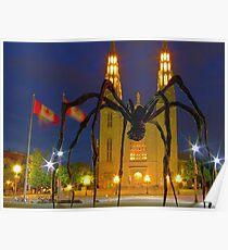 """Maman"" by Louise Bourgeois  In Ottawa at Night Poster"