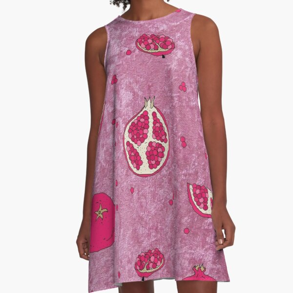 Pomegranate A-Line Dress