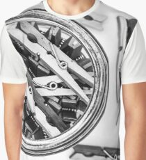 Wooden Clothespins  Graphic T-Shirt