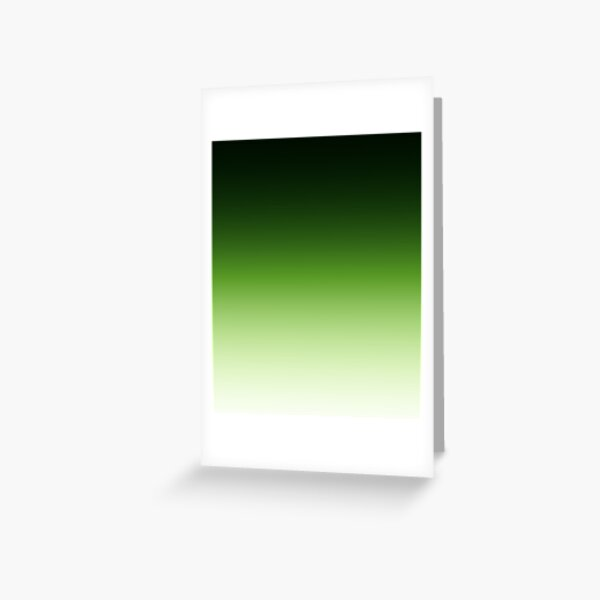 Green. Ombre . Greeting Card