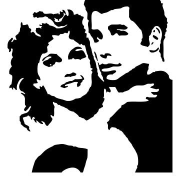 John Travolta Grease by Cinemadelic