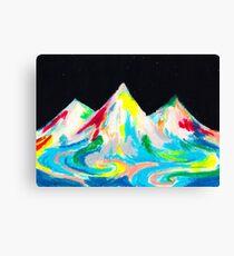 Mountains Cascading Canvas Print