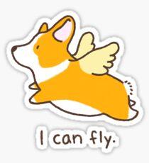 """""""I can fly"""" corgi Sticker"""