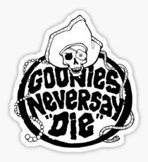 Goonies Never Say Die T-Shirt Sticker
