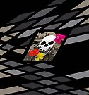 Skull and Roses in Dimensions by Melissa J Barrett