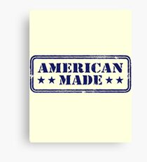 American Made Blue Logo Canvas Print