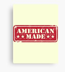 American Made Red Logo Canvas Print