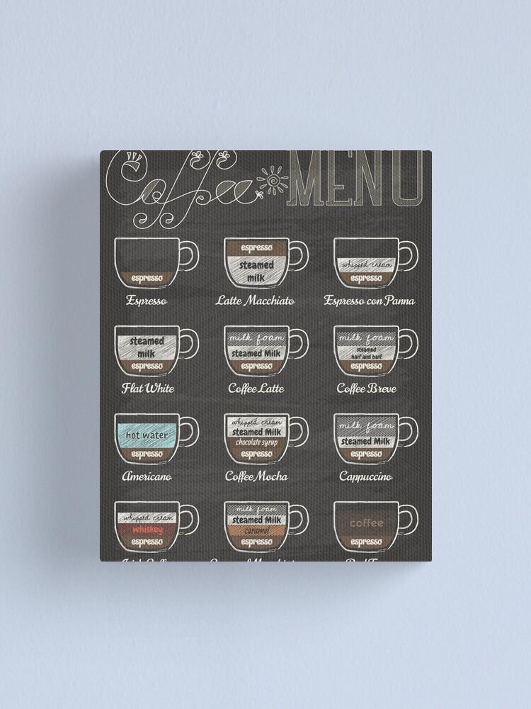 Alternate view of Coffee Shop Menu Canvas Print