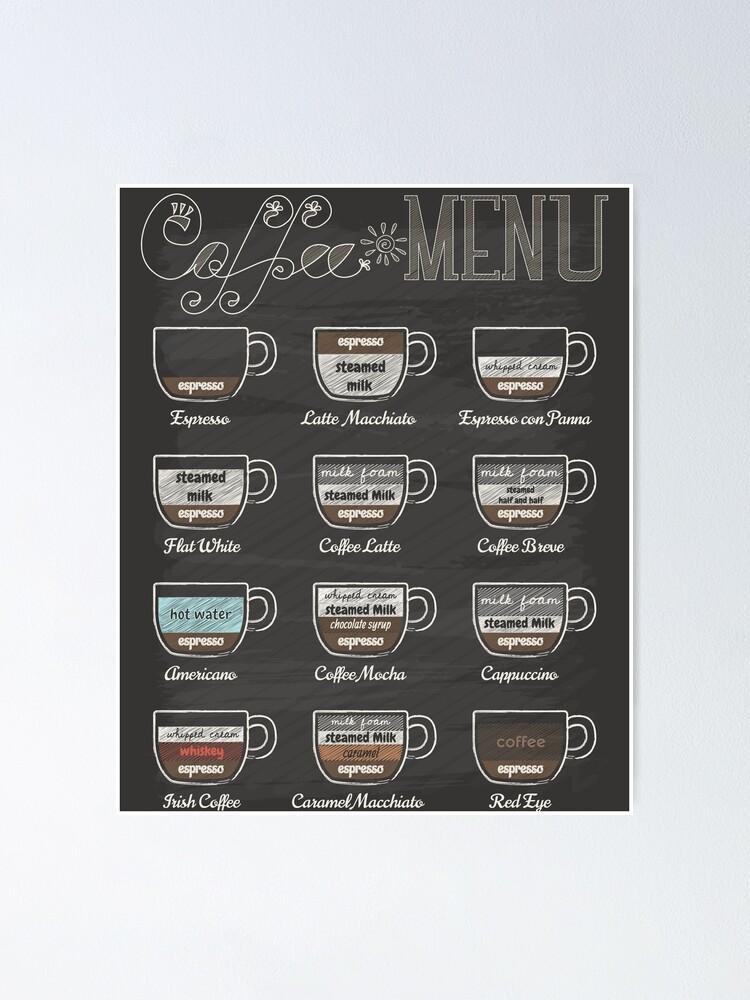 Alternate view of Coffee Shop Menu Poster