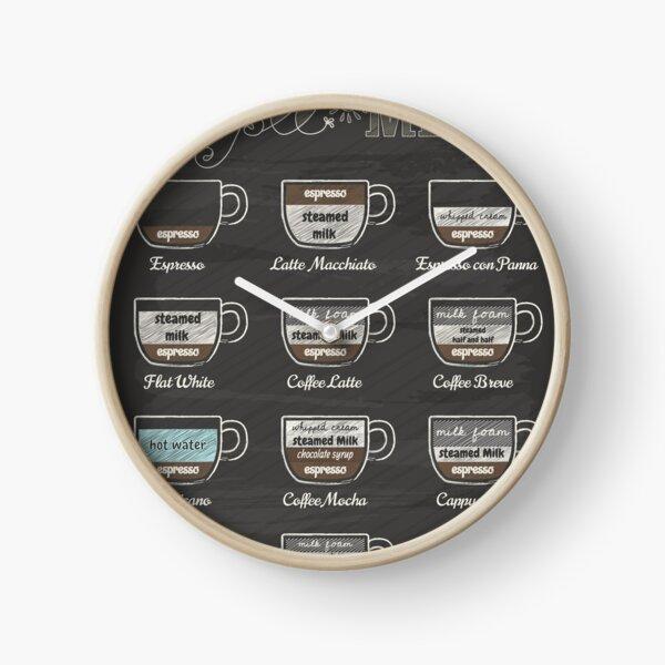 Coffee Shop Menu Clock