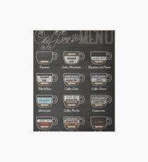 Coffee Shop Menu Art Board