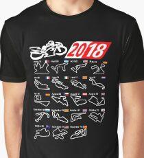 MotoGp Calendar 2018 circuits Graphic T-Shirt