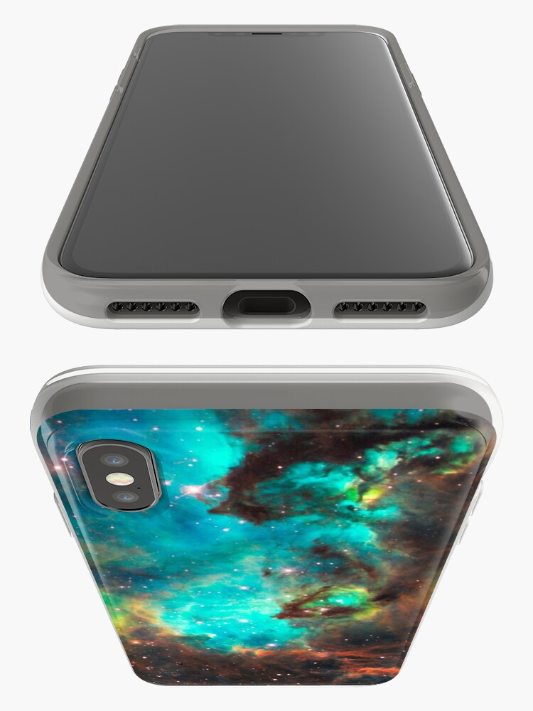 Alternate view of Green Galaxy iPhone Case & Cover