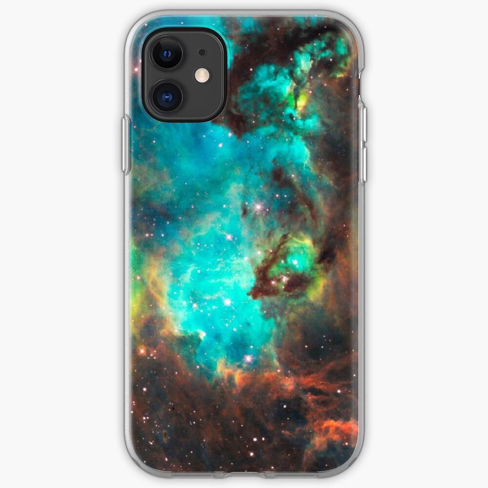 Galaxia verde Funda y vinilo para iPhone