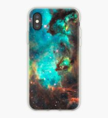 Grüne Galaxie iPhone-Hülle & Cover