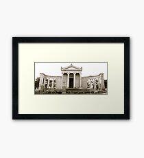 Mausoleum at St. John's Cemetery in San Mateo, California Framed Print