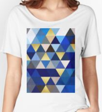 Blue and gold triangles Women's Relaxed Fit T-Shirt