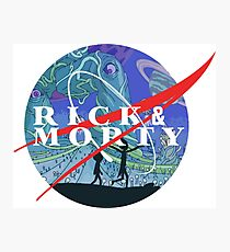 RICK AND MORTY NASA LOGO Photographic Print