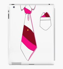 White Collar, Pink Tones Tie (Series: Formal but Not Formal) iPad Case/Skin