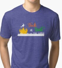Halloween Trick or Treat Castle Witch Tri-blend T-Shirt