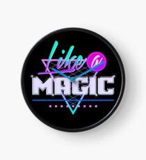 Wie eine Magie (schwarzer Hintergrund) Uhr