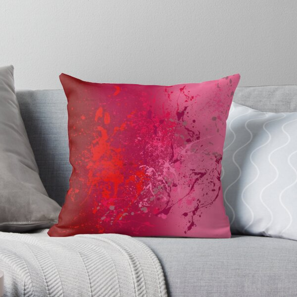 Raspberry Flurry Throw Pillow