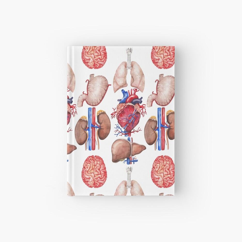 Colección de anatomía de acuarela Cuaderno de tapa dura