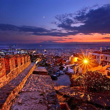 Panoramic view of Thessaloniki by Cretense72