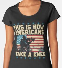 This is How Americans Take a Knee - Boycott the NFL Women's Premium T-Shirt