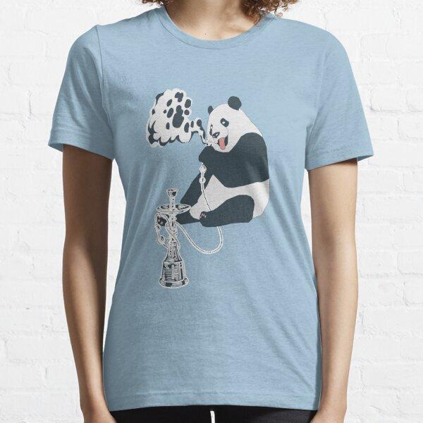 Gangsta, panda, ours, narguilé, narguilé, shisha T-shirt essentiel