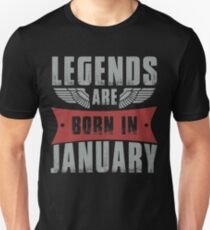 57adf3234 Legends Are Born In January Slim Fit T-Shirt