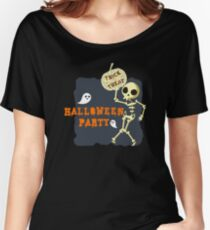 Halloween Party Dancing Skeleton Women's Relaxed Fit T-Shirt