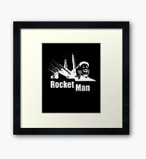 Kim Jong Un Rocket Man - Donald Trump  Framed Print