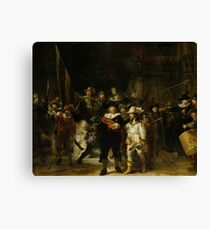 Painting - Militia Company of District II under the Command of Captain Frans Banninck Cocq, Known as the 'Night Watch', Rembrandt Harmensz. van Rijn, 1642 Canvas Print