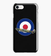 RAF SPITFIRE- BATTLE OF BRITAIN WW2 AIRCRAFT PLANE  iPhone Case/Skin