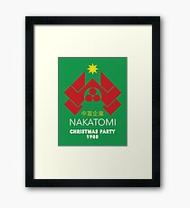 Nakatomi Corporation - Christmas Party Variant Framed Print