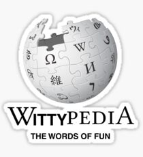 Wittypedia Sticker